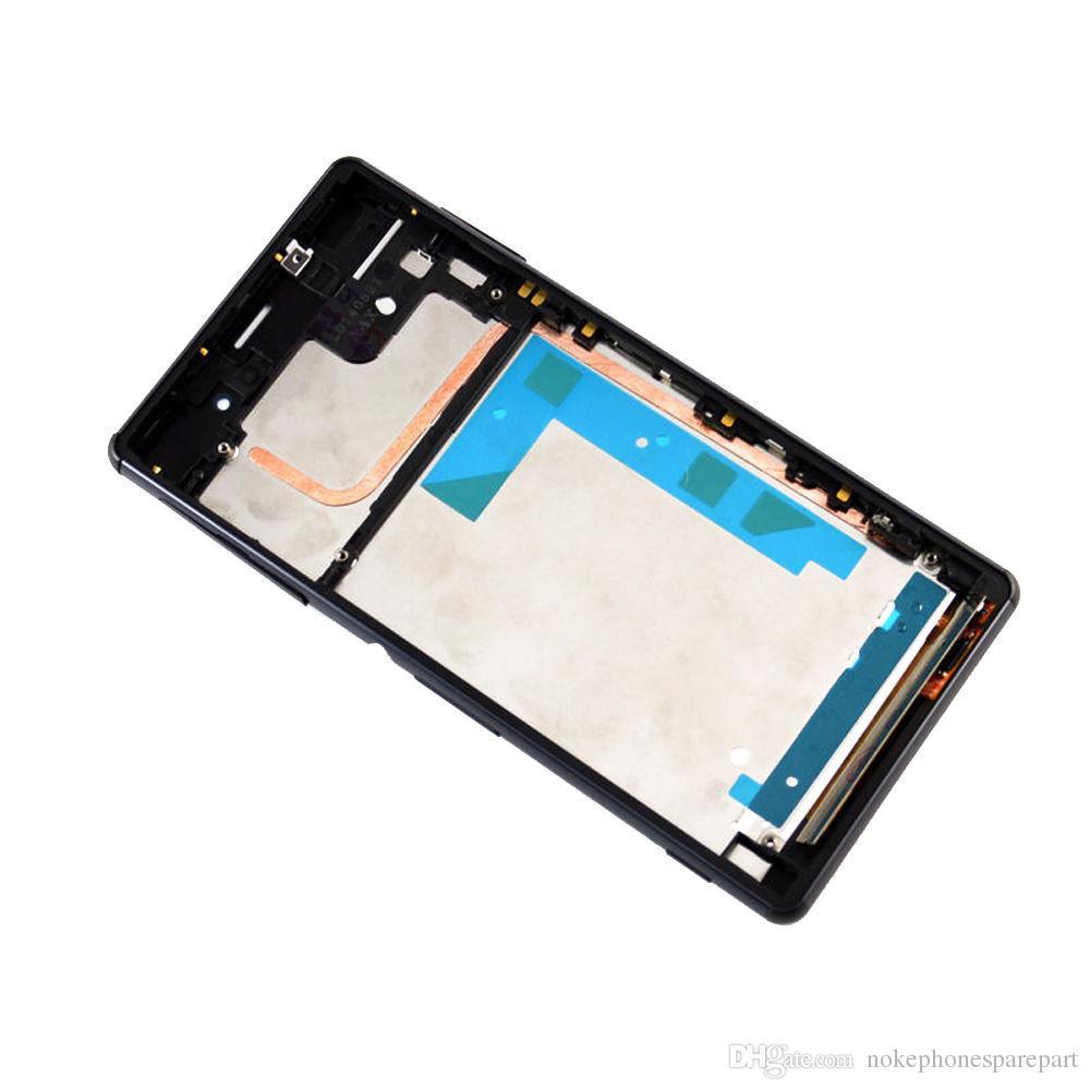100% Origina / Nuevo Z3 mini pantalla LCD + marco + conjunto de funda USB para Sony Xperia Z3 Conjunto de pantalla táctil LCD compacto DHL en blanco y negro