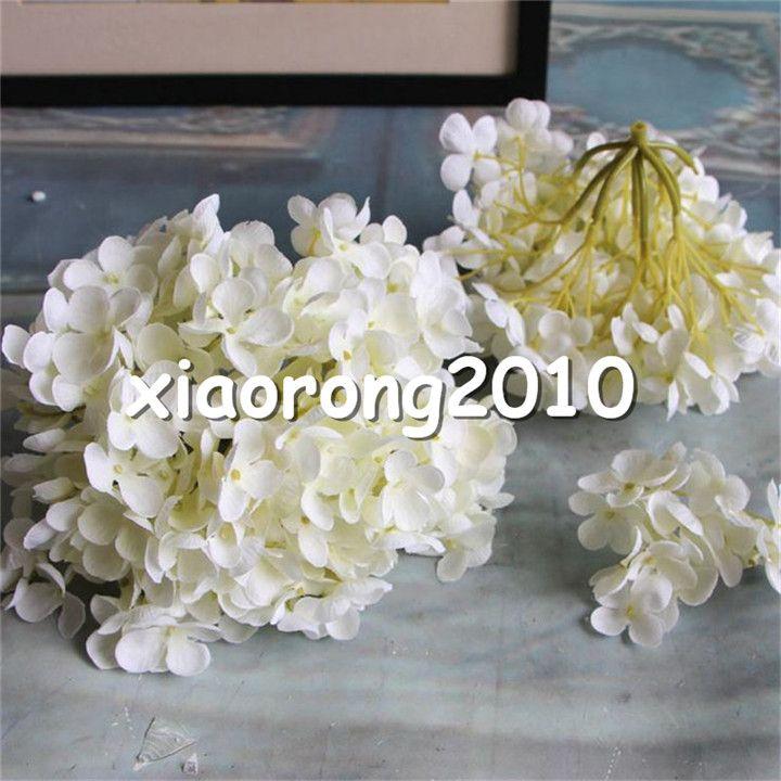 "HOT Silk Autumn Hydrangea Flower Head Dia. 19cm/7.49"" Artificial Flowers Floral Hydrangeas for DIY Bridal Bouquet Accessories"