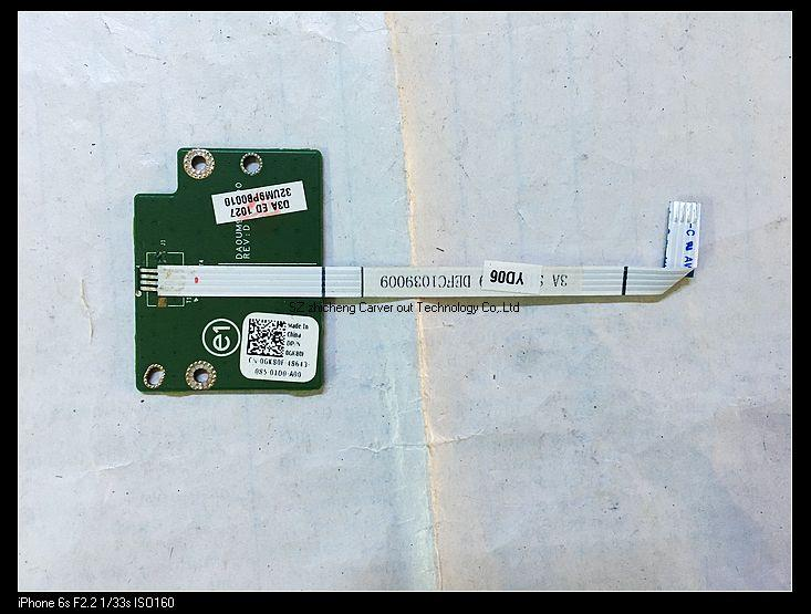 original for DELL inspiron 17R N7010 laptop Power button board with cable  GK80F 0GK80F 32UM9PB010 DA0UM9MB6D0