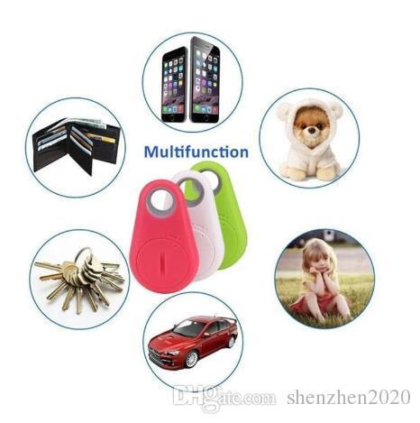 Rastreador de GPS Dispositivo de robo de alarma anti-perdida Control remoto Bluetooth, Bolsa de mascotas para niños Buscador de llaves Caja del teléfono DHL envío gratis con caja al por menor