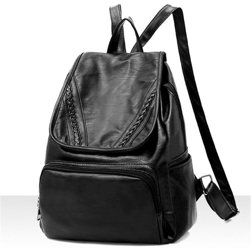 1856e9d5b Women Backpack New Arrival Shoulder Bag PU Black Early Summer Version Of  The Students Package Travel Backpack Tide Package Bags Women Shoulder Bag  Students ...