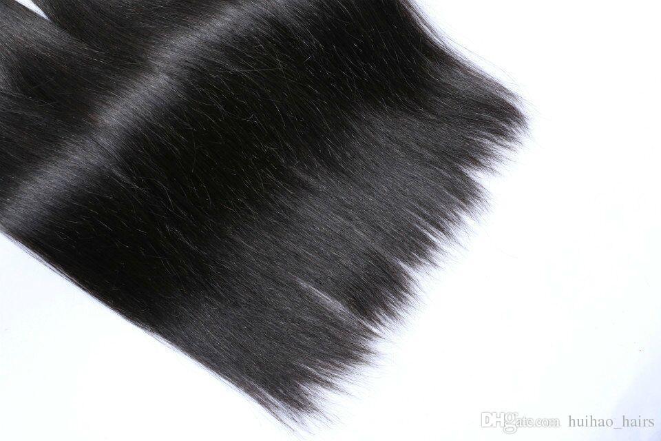 8A Nerz brasilianisches gerades reines Haar bündelt 100% brasilianisches reines Haar gerade unverarbeitetes peruanisches malaysisches indisches reines Menschenhaar