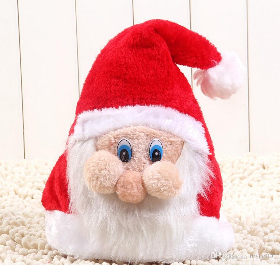 Christmas Caps Cartoon 3d Father Christmas Hats For Christmas ...