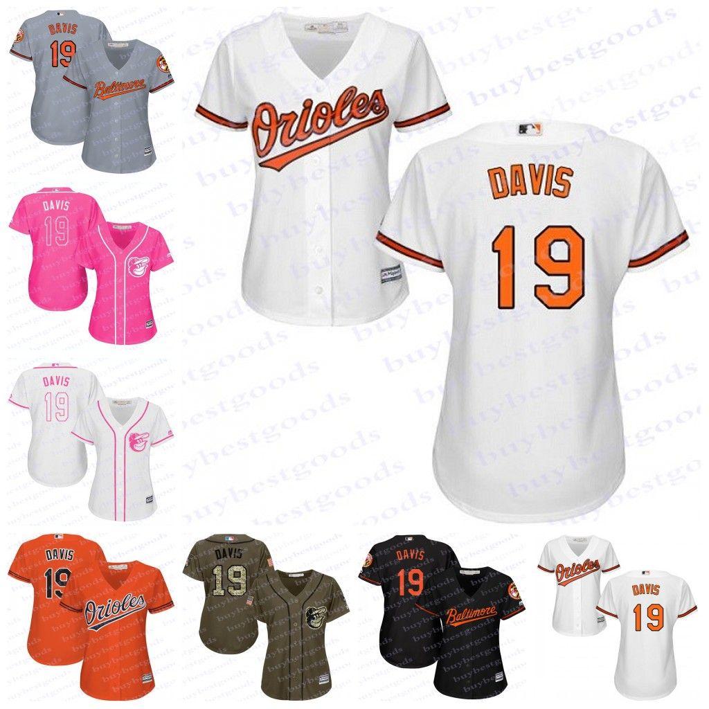 128625a84 ... 2017 2017 Womens Baltimore Orioles Jerseys 19 Chris Davis Baseball  Jerseys Ladies Shirt Cool Base White ...