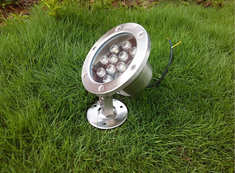 9 Watts LED Underwater Lamparas Bulbs Waterproof IP68 12V 85-265V Fountain Pond Spot Lighting Lamp 9W CE ROSH Warm white 2 Years Warranty