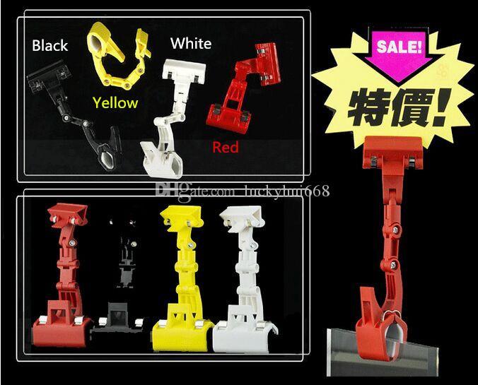 Hot sale Supermarket Economical POP Sign Clip Holder price tag label card frame Manipulator display racks store stand