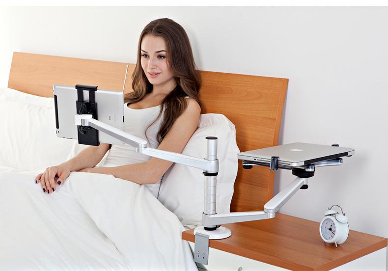 2018 2016 Aluminum Lazy Stand Laptop Desk Stand Bedside