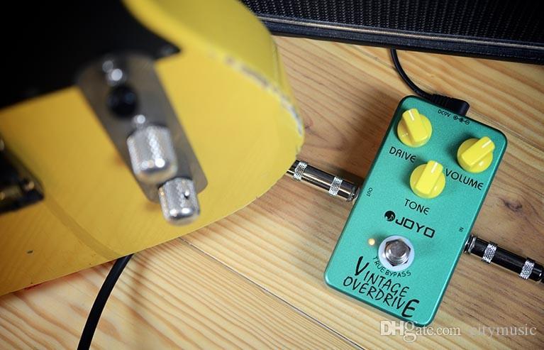 Sıcak Satış JOYO JF-01 Vintage Overdrive Gitar Efekt Pedal ile Ture Bypass JRC4588 Çip