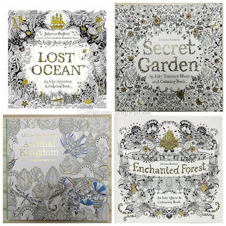 Compre Libros Para Colorear Para Adultos 4 Jardín Secreto De Diseño ...
