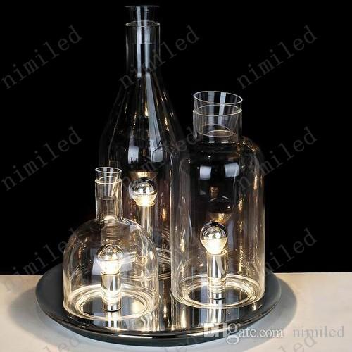 nimi690 European ITRE Rosati Bacco 123 Bottle Table Lamp Bedroom Lights Living Room Glass Desk Lighting Bar Hotel Lamps