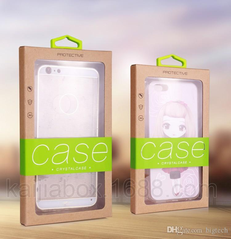 Bunte Universal-Paket PVC-Plastikkleinverpackung Packpapierkasten für iphone 6 Plus Fall Note 5 Innenfächer Halter