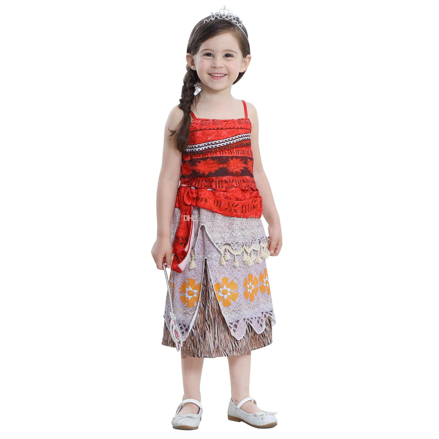 Best Baby Girls Moana Vest Tank Skirt Suit Summer Clothes Halloween