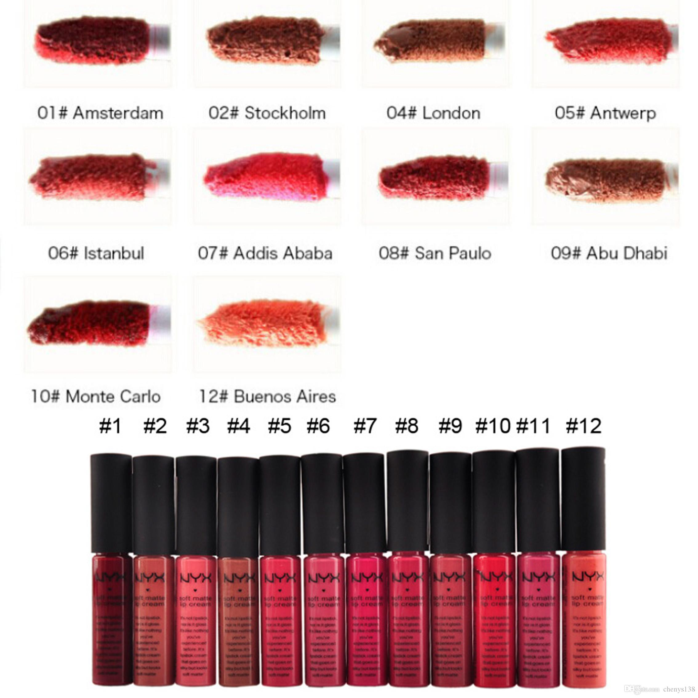 Soft Matte Lip Cream Nyx Stockholm T All Variant Gloss Long Lasting Lipstick Professional Makeup Tool Vintage Cheap Free Samples From Chenys138