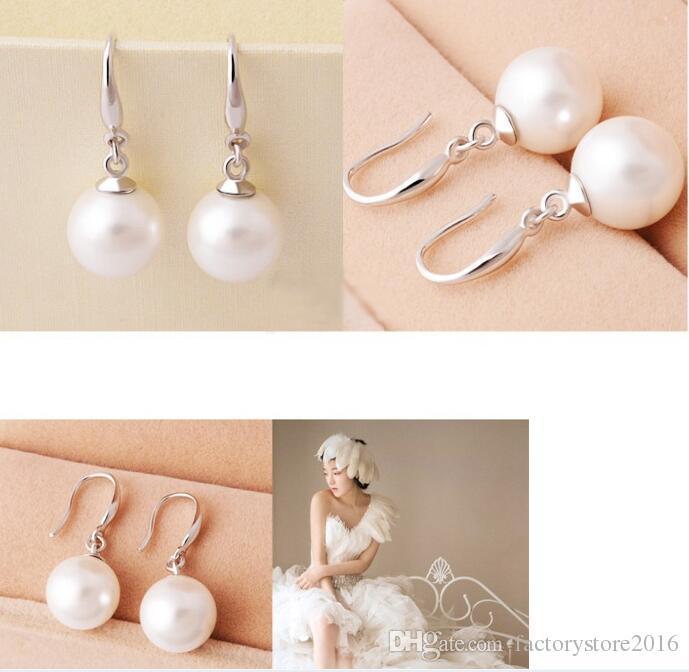 Frauen schmuck 925 sterling silber ohrring natürliche perle tropfen baumeln haken ohrringe ohrstecker ohrringe top qualität