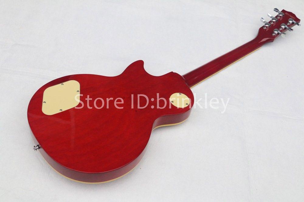 Brinkley store Slash Signature red guitar,tiger flame maple electric guitar,Solid mahogany slash guitaar,