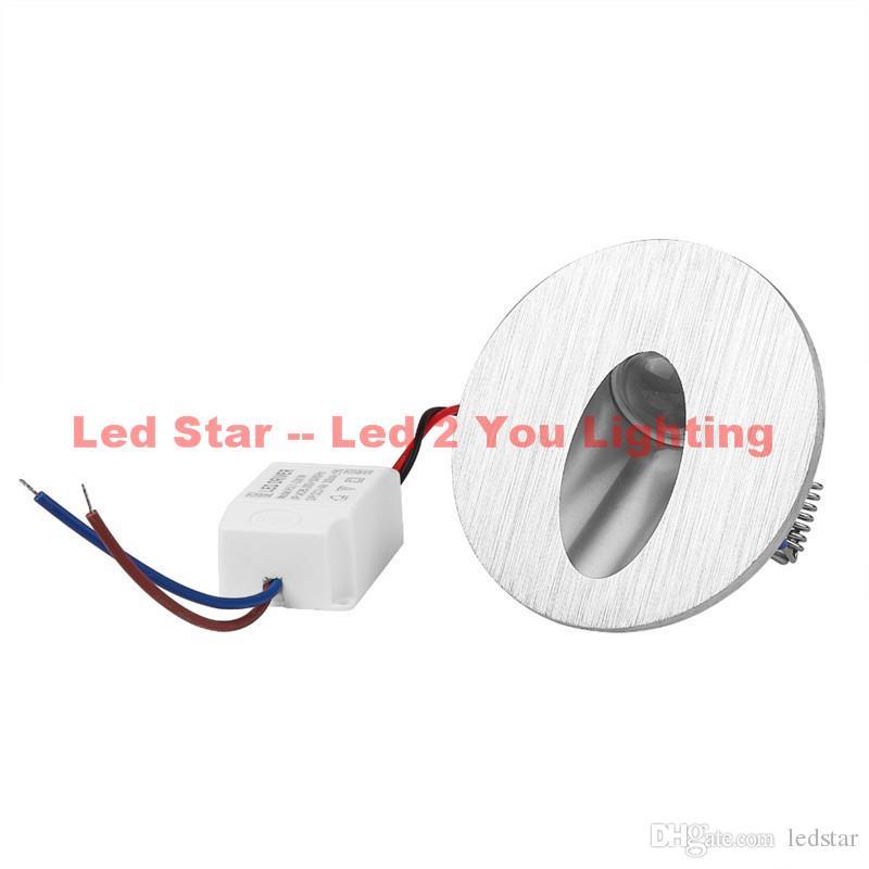 Квадратный / Круглый светодиодный встраиваемый светильник Настенный светильник 3W Украшение LED Подвал Лампа Крыльцо Путь Шаг Лестница Свет AC 85-265 В