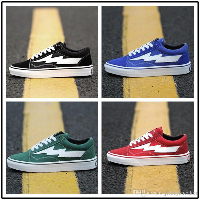 e3570364d542 2019 2018 New Arrival Revenge X Storm Old Skool Classic Black White Red Blue  Green Light Men And Women Casual Shoes Sneakers Skateboard Shoes From ...