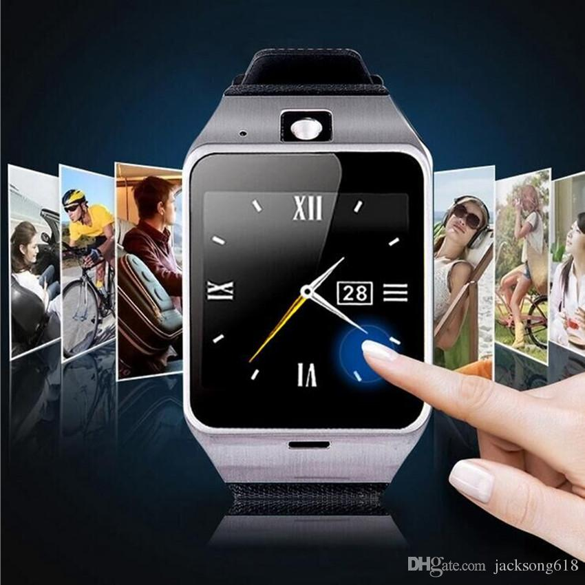 Smartwatches GV18 1.5 inch NFC Smart Watch With touch Screen Camera Bluetooth SIM GSM Phone Call Waterproof for Android Phone