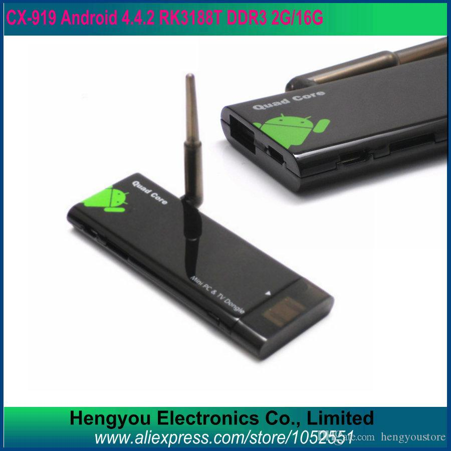CX-919 Quad Core RK3188 android tv box stick 2GB RAM 16GB ROM 1 8GHz Max  bluetooth wifi Mk809III Android 4 4 2
