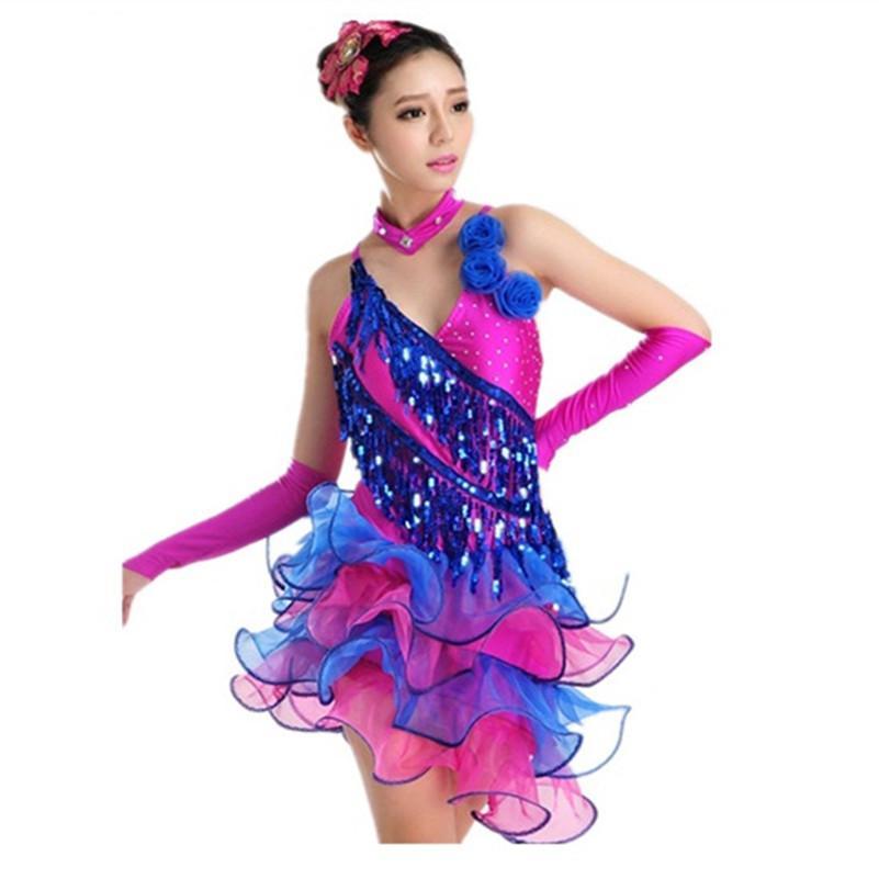 Asombroso Vestido De Lentejuelas De Baile Un Hombro Ornamento ...
