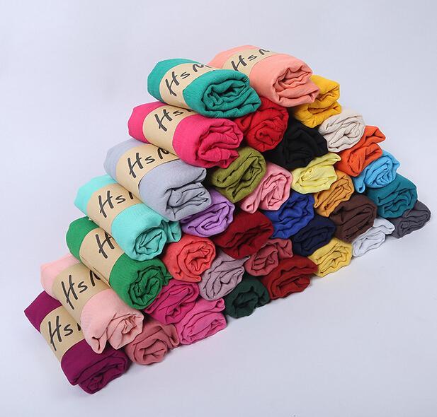 autumn winter Korean woman Pure color scarf ladies headband Cotton and linen scarf huge 180*75cm hot sale