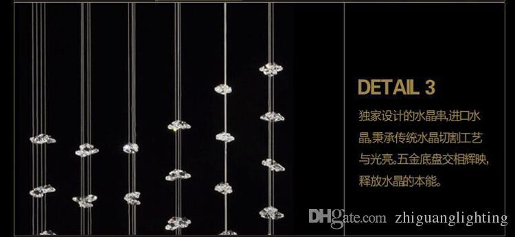Asma tavan mutfak led aydınlatma modern kristal tavan lambası lüks dikdörtgen tavan kristal lamba 9080D03C #