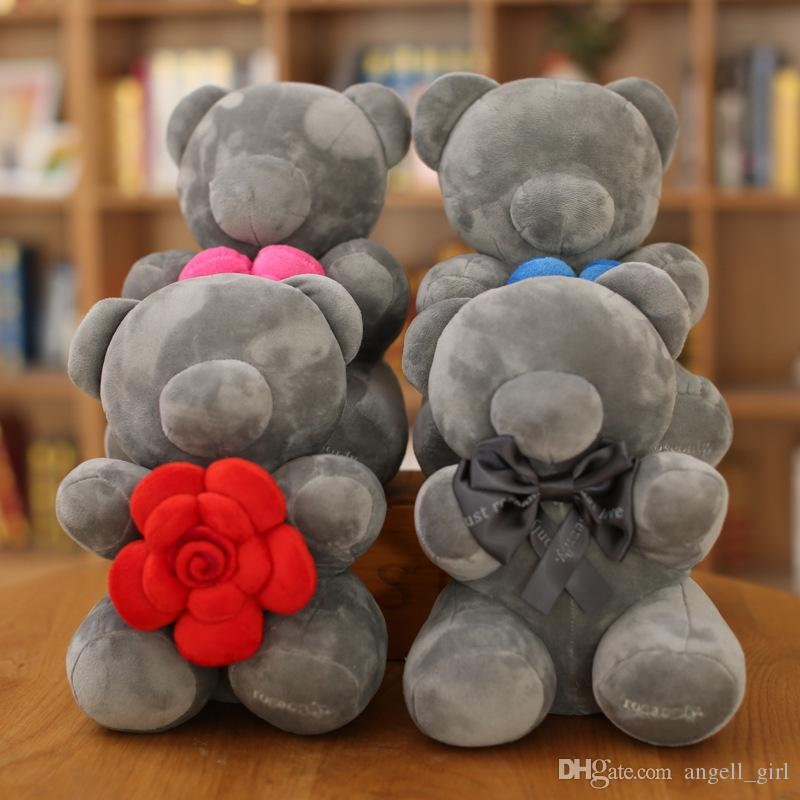 2017 2018 Hot Sale 26cm Colorful Roses Bear Plush Toy Doll Cute ...