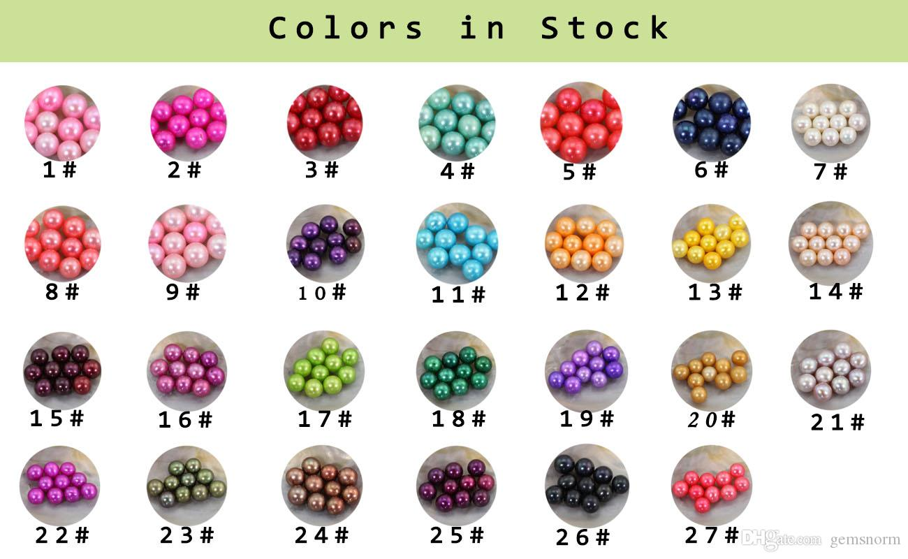 Vacuum-Packed 6-8mm Round Akoya Pearls Oyster Shell Vibrant Dyed Round Pearls in Saltwater Oyster Party Live Gift AP053