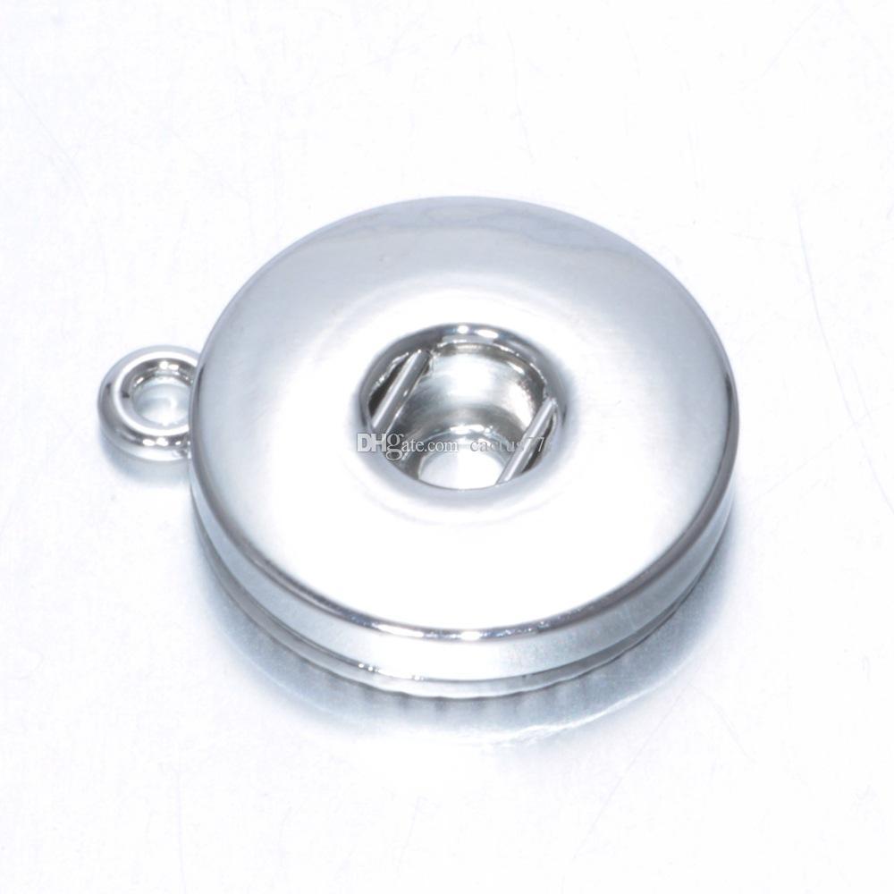 Многие стили металлического сплава 18 мм / 12 мм Noosa имбирь Оснастки кнопки базы кулон ювелирные изделия выводы аксессуары для DIY кнопка браслет ожерелье