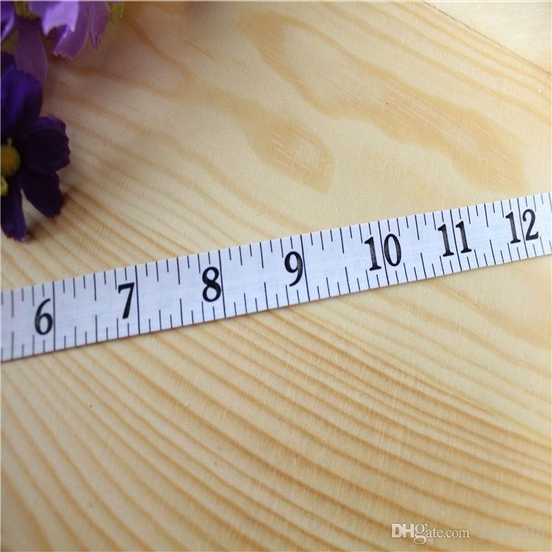 Hohe Qualität 1.5m Fitness genaue Körperfett-Schieber-messendes Körper-Klebeband Lineal misst Maßband Weiß Körperfett-Schieber