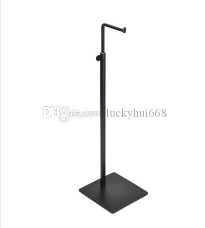 High quality Black women bags handbag display stand holder adjustable wig purse tie jewelry display rack colthing props