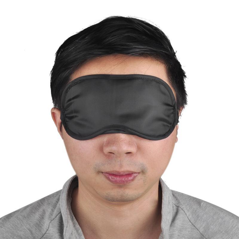 أسود العين قناع البوليستر الإسفنج الظل غطاء قيلولة قناع الغمامة للنوم السفر أقنعة البوليستر الناعمة 4 طبقة 0612001