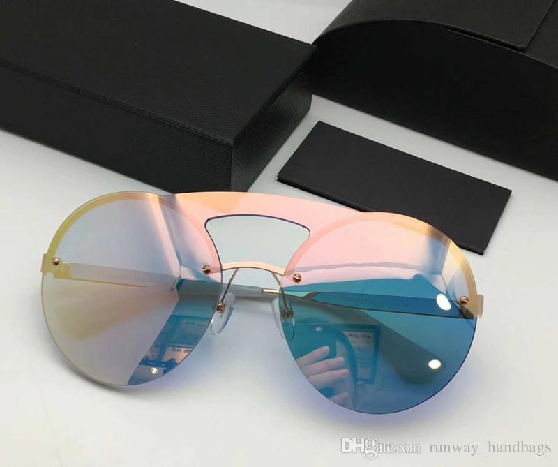 Compre 2017 Moda Clássico Rodada Mulheres Homens Óculos De Sol Uv400 Lente  Gradiente De Proteção Sem Aro Com Caixa De Embalagem Óculos De Sol De ... 893986d800