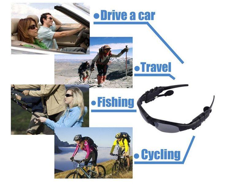 Bestsin Sonnenbrille Bluetooth Headset Wireless Sport Kopfhörer Sunglass Stereo-Freisprecheinrichtung Kopfhörer mp3 Music Player für Universal-Handys
