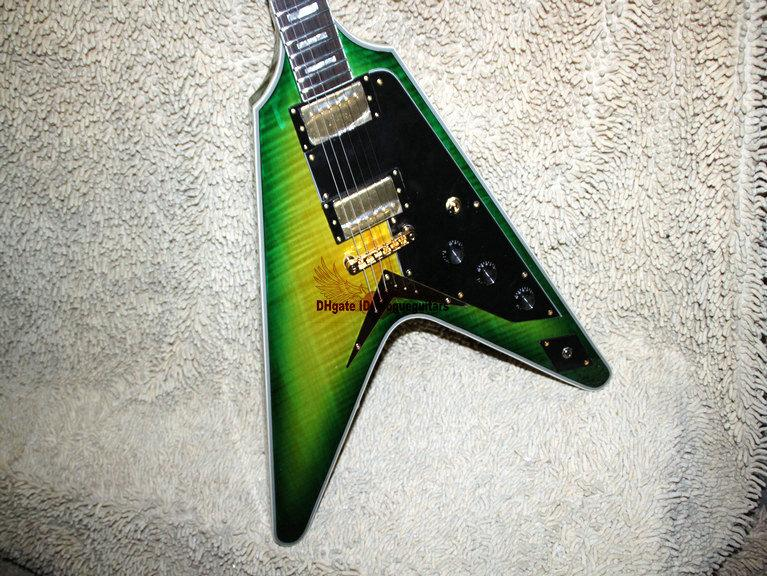 High Quality Musical instruments Newest Custom Shop FV Electric Guitar green Burst Mahogany