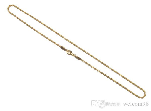 10 stks / partij Vergulde Kettingen Kettingen Koord voor DIY Fashion Craft Sieraden Gift Ketting 16 inch Go15