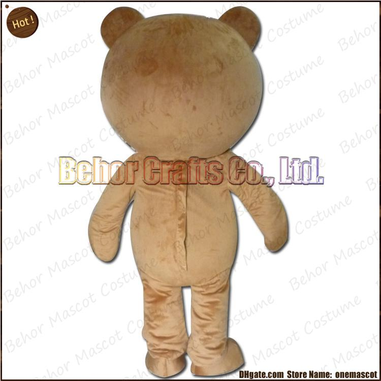 New bear mascot costume EMS cheap high quality carnival party Fancy plush walking Teddy bear mascot cartoon adult size.