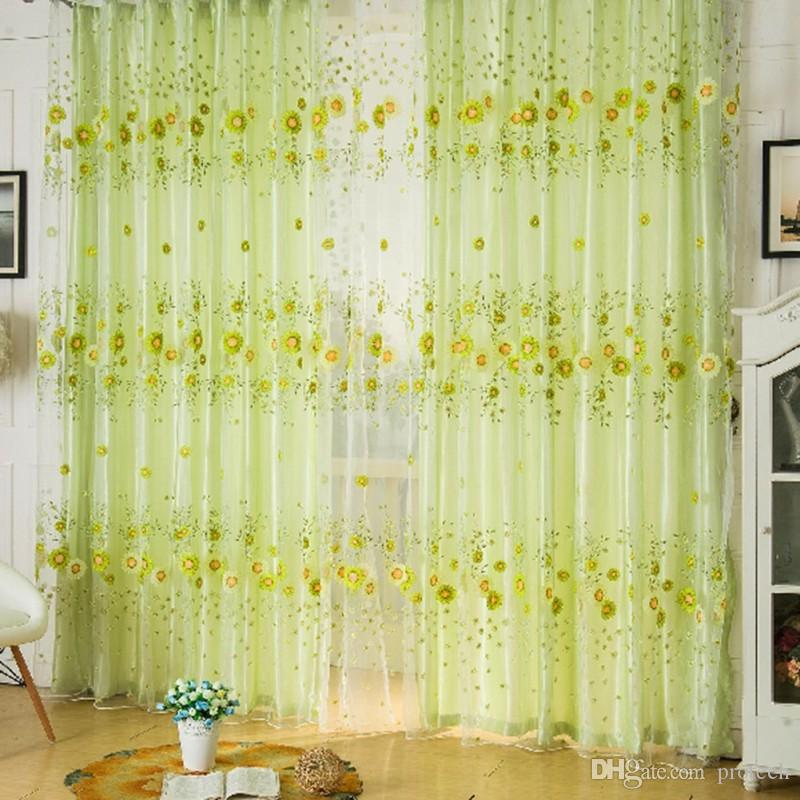 Summer Style Sunflower Curtains For Living Room Window Curtain