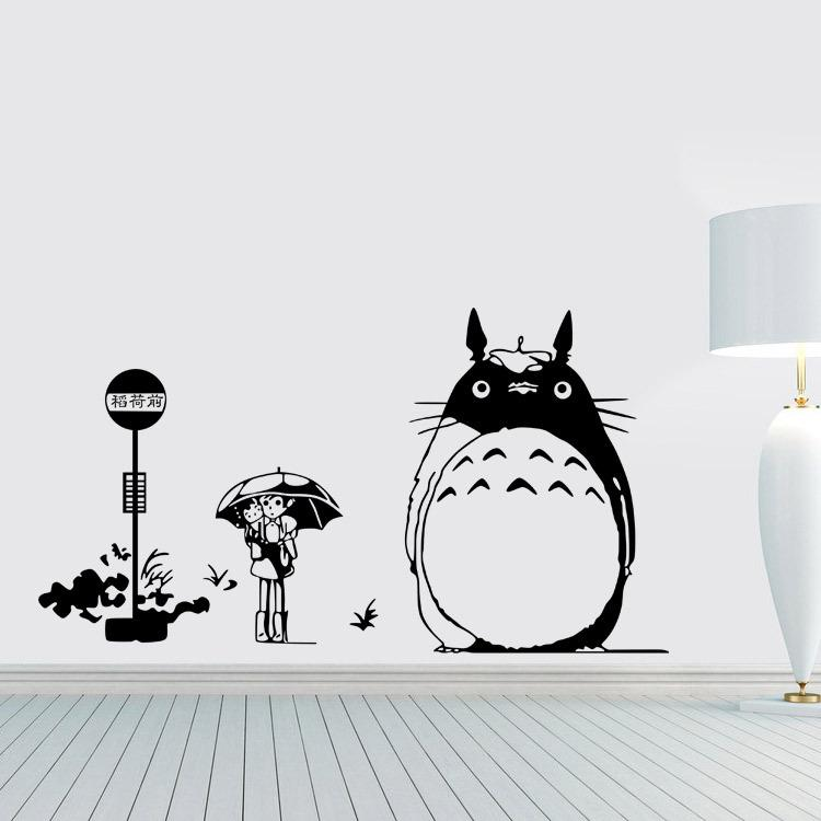 The Light Totoro Totoro Wall Stickers Children Housing Painting - Custom vinyl wall decals cheap   how to remove