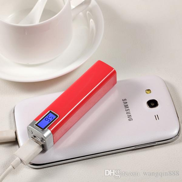 Power Bank 2600mAh portable external battery pack charger Universal power bank for Mobile Phone With Micro USB Cable With Retail Package
