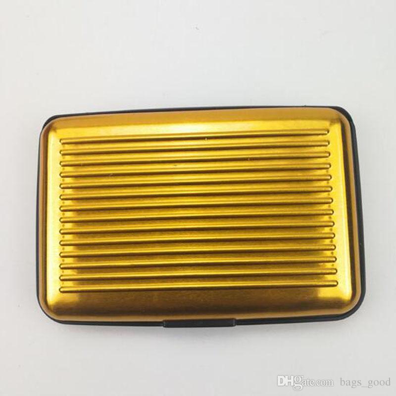Waterproof Business ID Credit Card Wallet Holder Aluminum Metal Pocket Case Box Metal Box Money Wallets Case