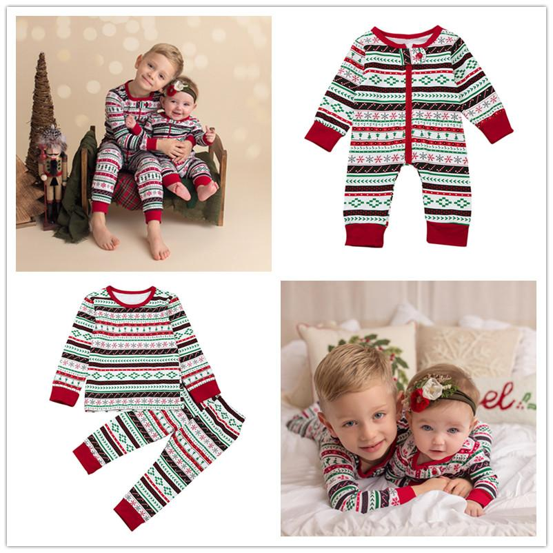 Family Matching Outfits Brothers Christmas Pajamas Baby Boys Cotton ...