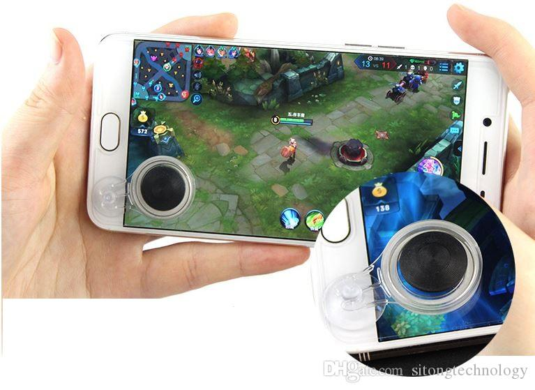 Mobile Transparent Joystick Gamepad Dual Stick Controller Games Direction Screen sucker For iPhone 6 7 8Samsung xiaomi Android