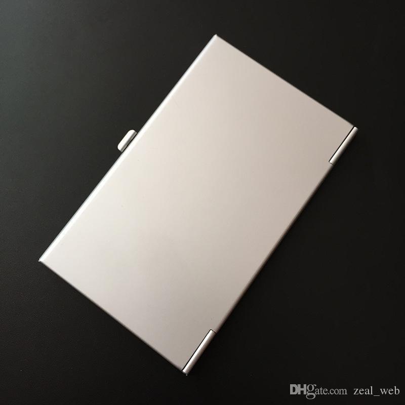 سبائك الألومنيوم اسم بطاقة الائتمان الأعمال حامل القضية ملفات بطاقة حامل بطاقة الأعمال الألومنيوم الألومنيوم اللون الفضي