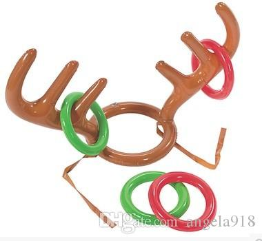 Elk Horn gonfiabile piscina sulla spiaggia Giocattoli bambini Moose Antlers figura sveglia Deer Head Ghiera di gioco i giochi all'aperto di Natale Decor E1708