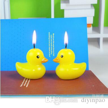 Wholesale Yellow Duck KT Mouth Monkey Birthday Candles Cute Cartoon Cake ChildrenS Toys Decorations Baking Supplies Red Votive