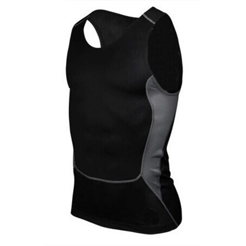 Atacado-Men Compressão Apertado T-Shirt Camada de Base de Fitness Workout Vest Regatas S-XXL