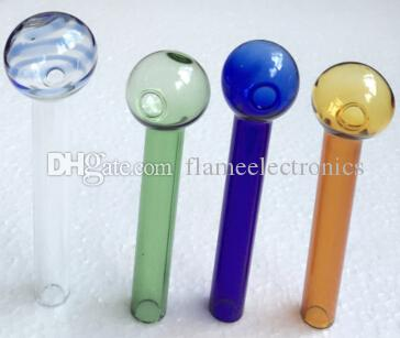 ed Glass Oil Burner Pipe 2mm Thickness Glass Oil Burner Glasses Tube Glass Pipes Oils Nail Oil Burner Pipe Thick Colorful Pipes