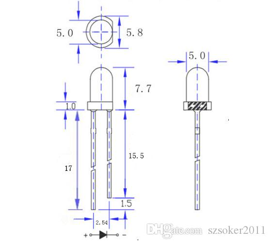 1000 pz 5mm 5mm bianco diffuso lampada a led lampada a emissione diodo nebbioso ultra luminoso plug-in plug-in kit fai da te Pratica grandangolare