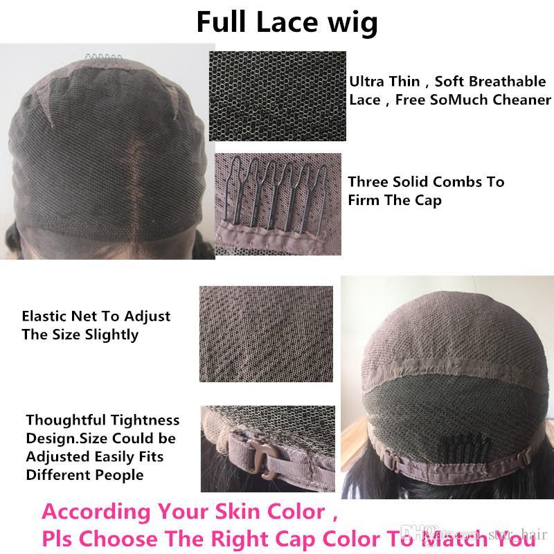 150 parrucche sintetiche della parte anteriore del merletto dell'onda del corpo di densità Densità capelli a 8-24 pollici di remy Glueless parrucche brasiliane dei capelli umani Linea sottile naturale